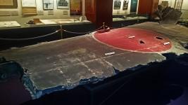 撃墜された山本長官機の左翼部分