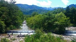初夏の中房川
