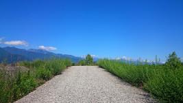 高瀬川堤防沿いの風景