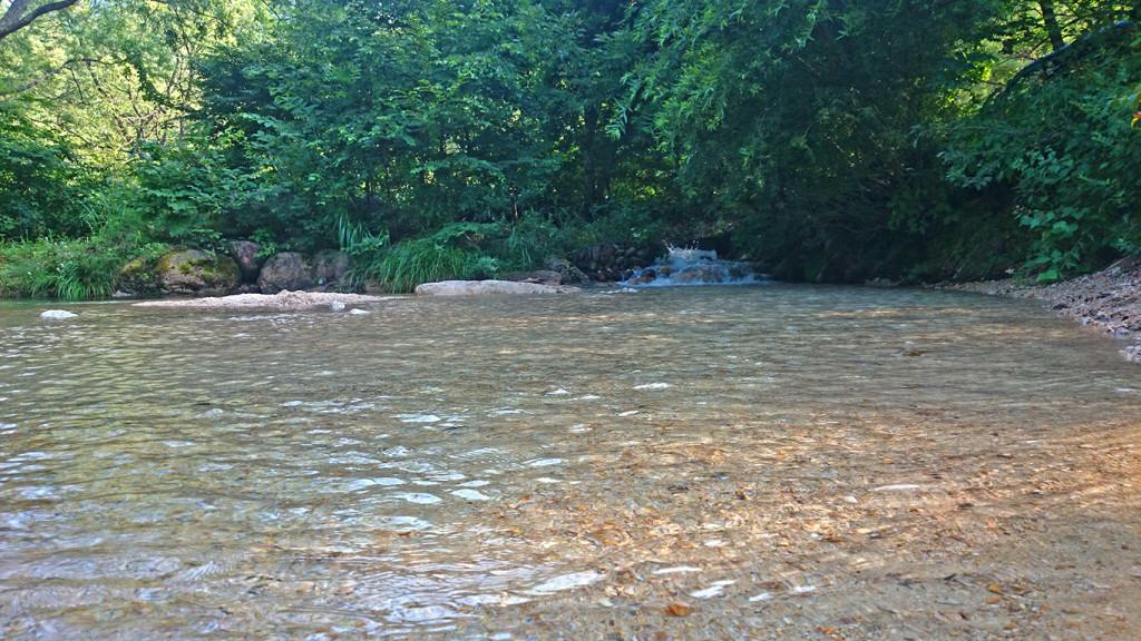 馬羅尾高原キャンプ場の水遊びできそうな場所