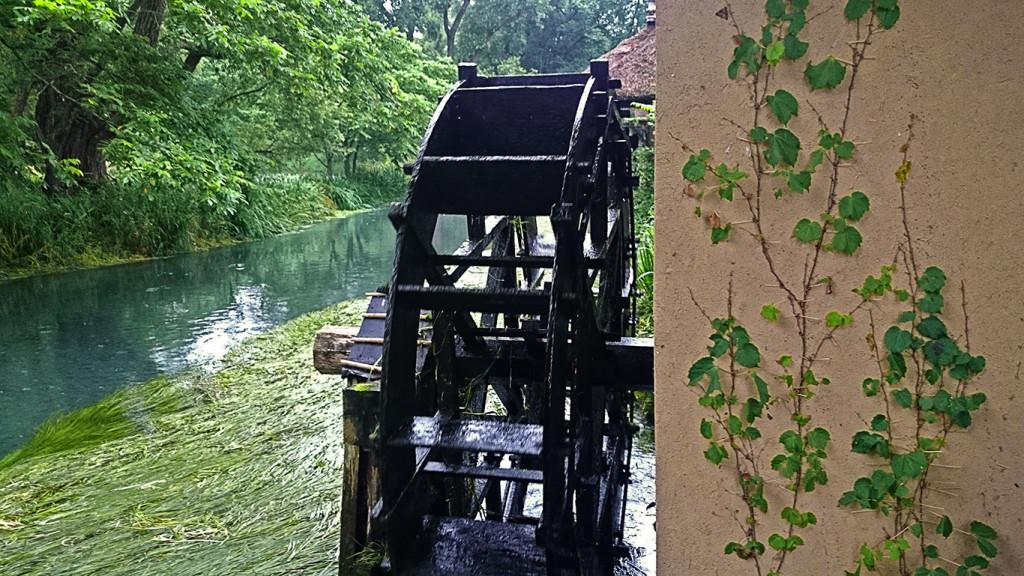雨降りの大王水車小屋