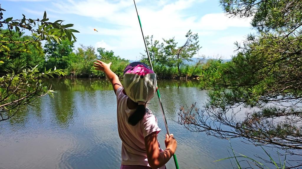 チビ助の釣り風景