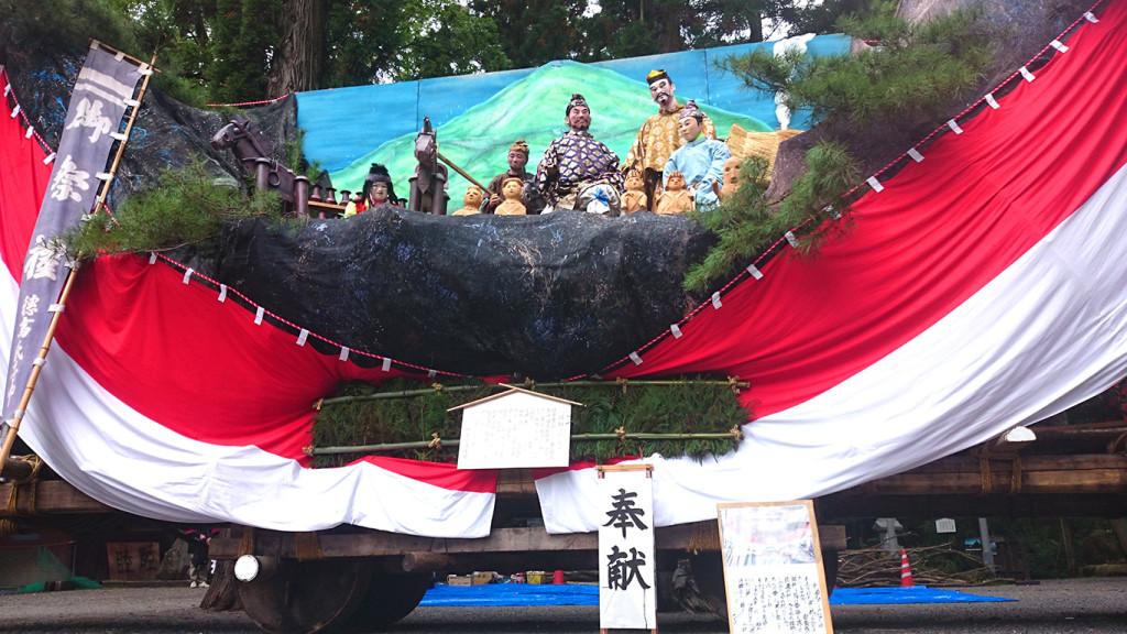 穂高神社お船祭りのお船