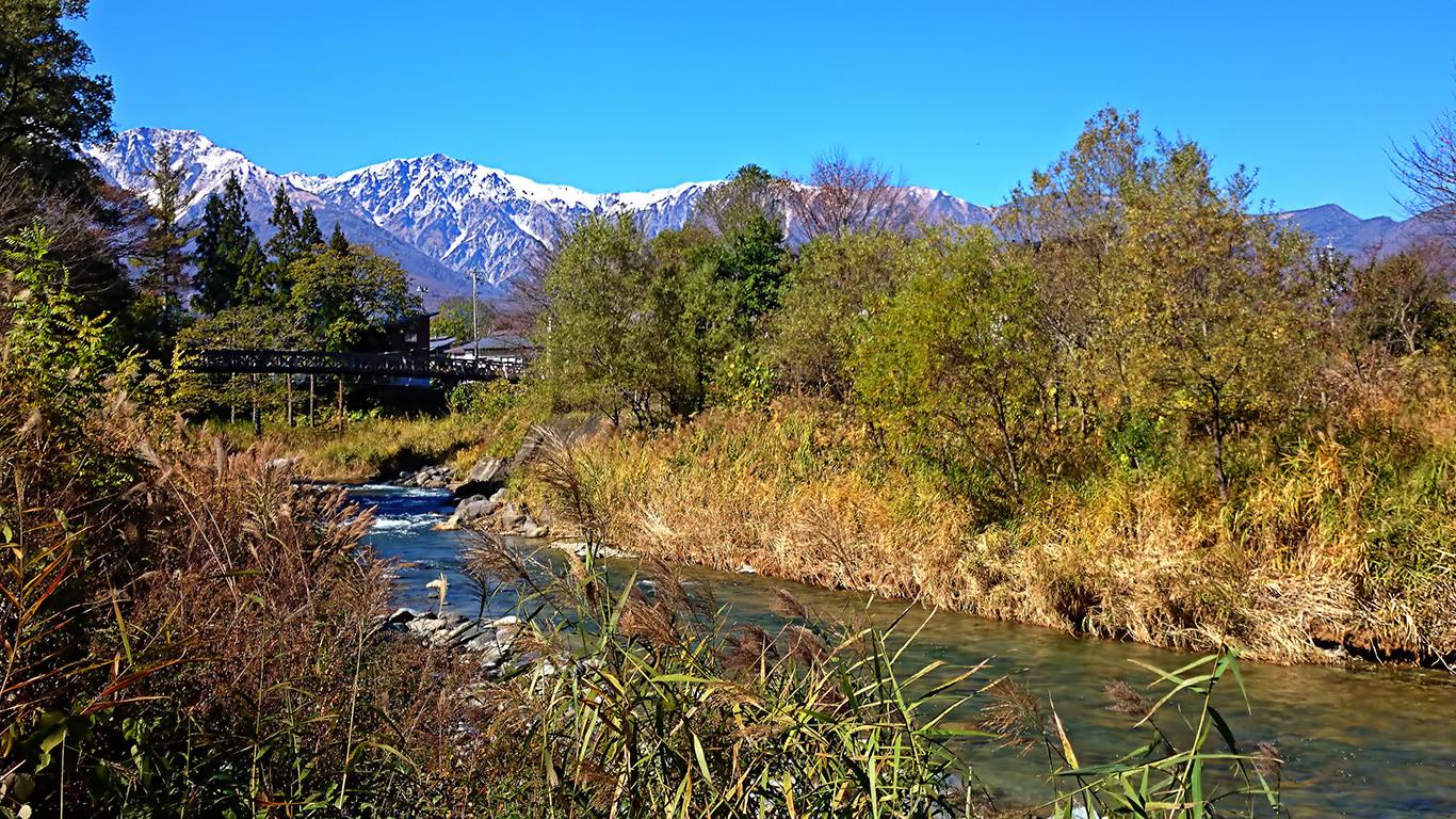 大出の吊橋からの秋の風景