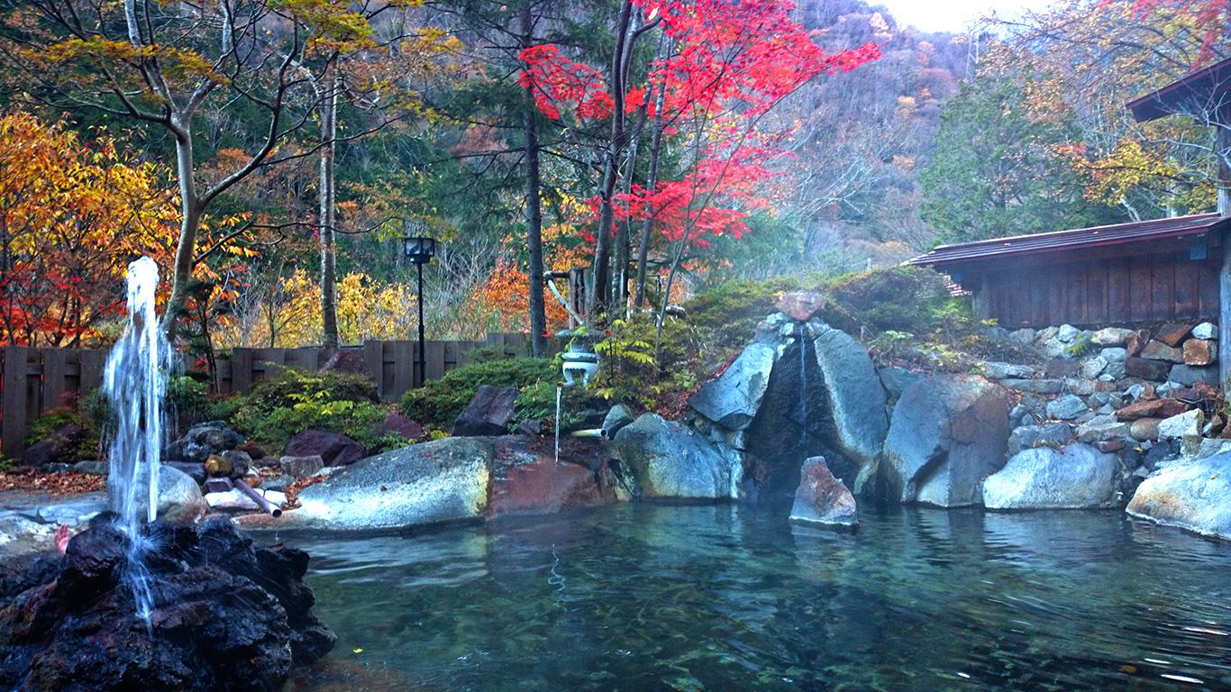 高瀬館の露天風呂