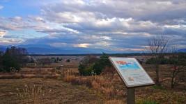 桜沢遺跡公園のちひろがスケッチをしていたと言われる場所からの風景