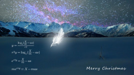 メリークリスマス数式のクリスマスカード