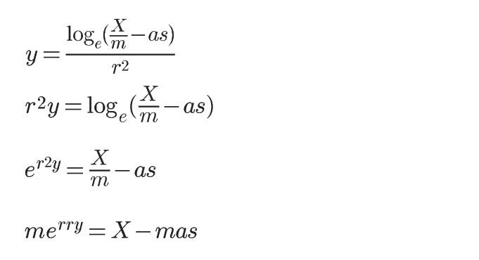 メリークリスマスになる数式
