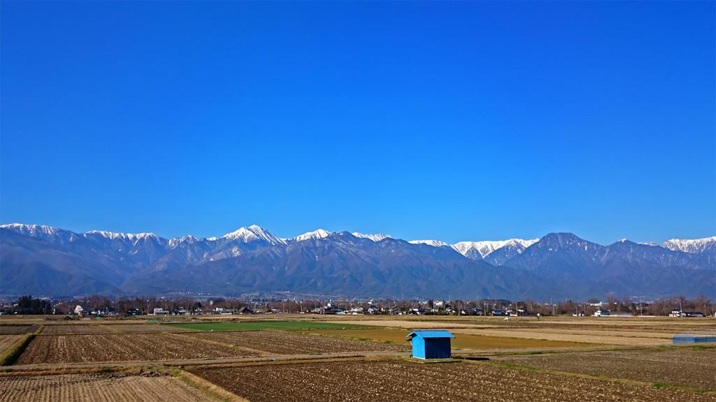 大王近辺から、常念岳や有明山など