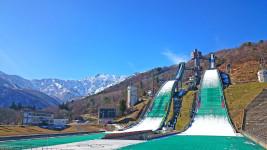 初冬の白馬 スキーのジャンプ台