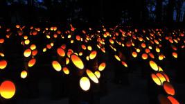 穂高神社 神竹灯1
