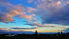北海渡付近からの黄昏時の南東の空