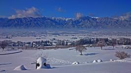 あづみ野池田クラフトパークからの雪景色1