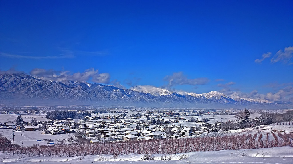 あづみ野池田クラフトパークからの雪景色2