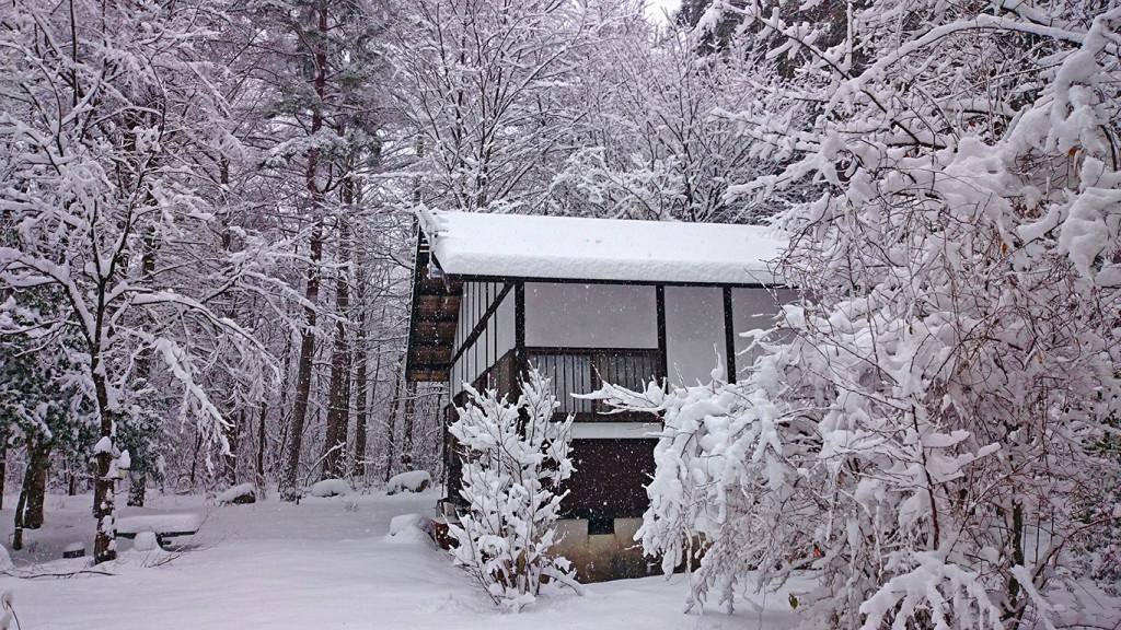 雪の鈴玲ヶ丘学者村の風景