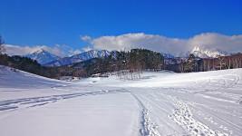 大町 中山高原の雪景色