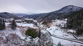 松本市四賀からの雪景色