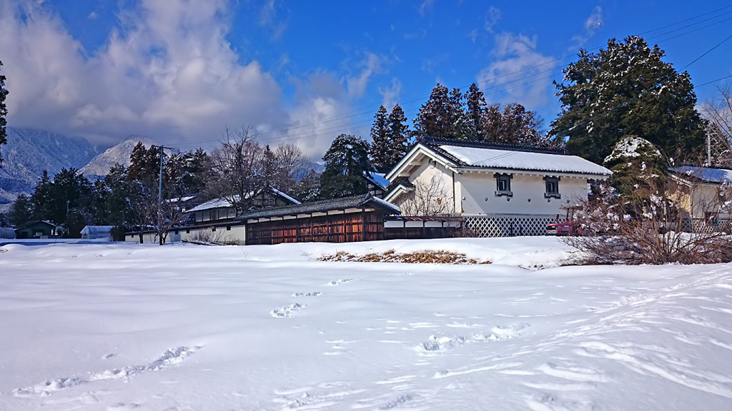 雪の中に佇む赤沼家