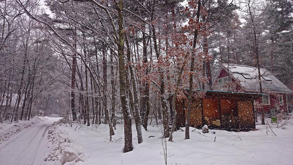 雪の学者村の風景
