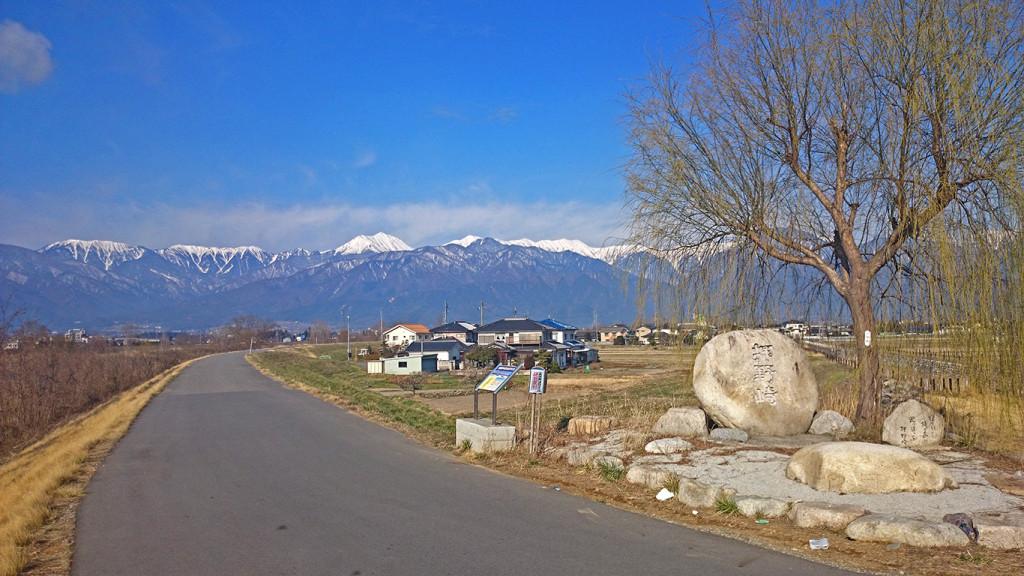 春先の押野崎の風景