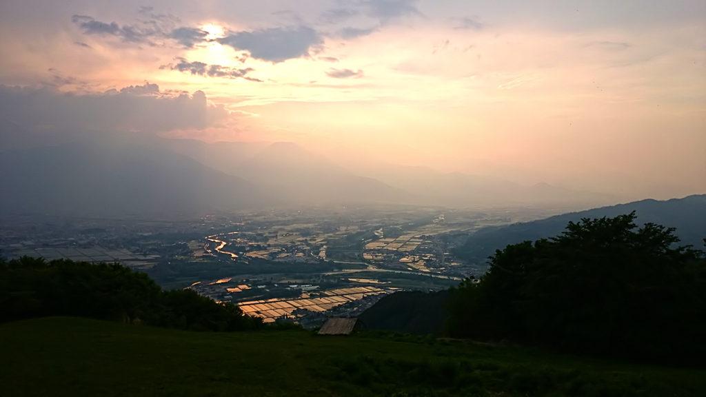 夕方の長峰山から
