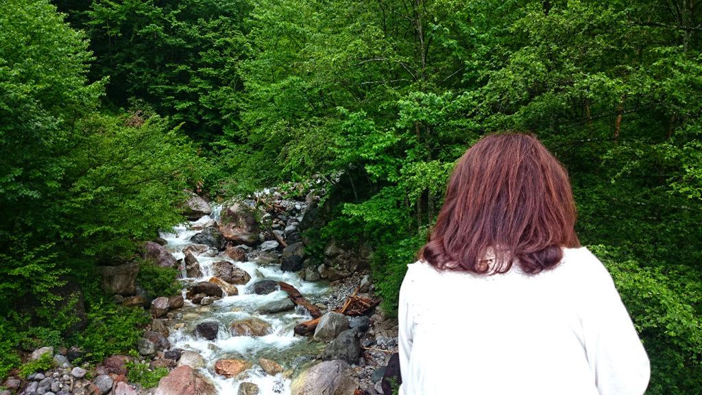 七倉からの川の風景