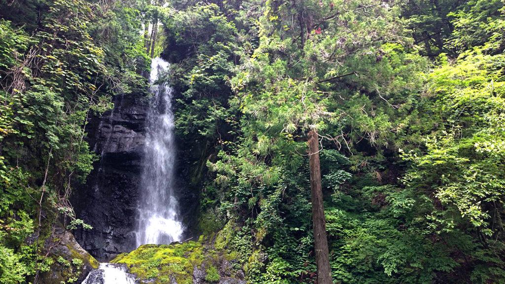 黒沢の滝上段部分