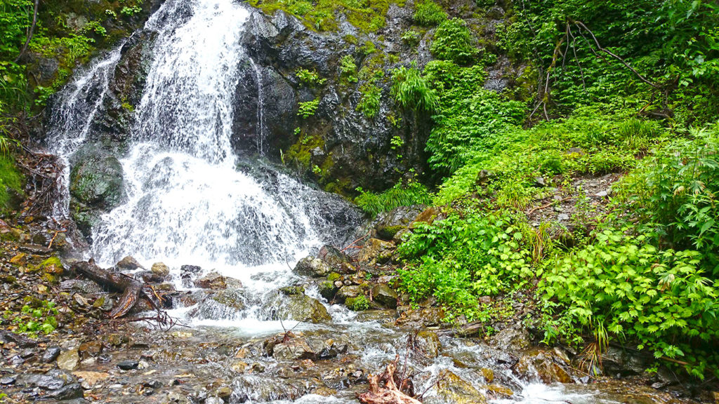 黒沢の滝下段部分