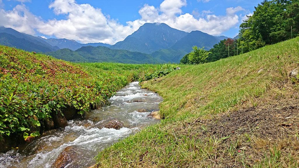 有明山と油川
