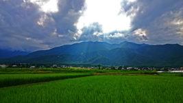安曇野の田園風景