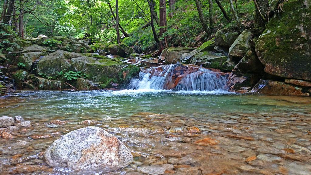 黒川沢の小さな滝壺