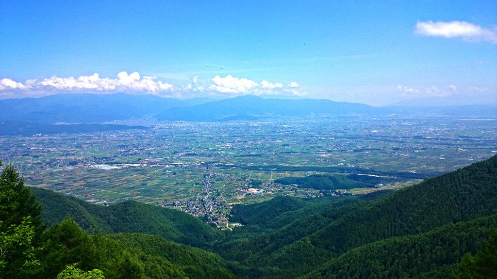 三郷スカイライン展望台からの風景