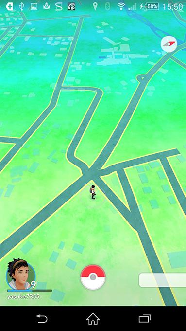 田舎のポケモンGOの画面
