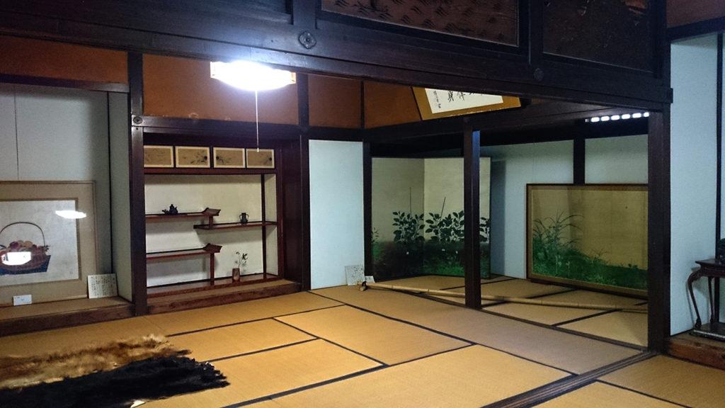 かつて松本のお殿様も泊まられた大庄屋山口家のお部屋