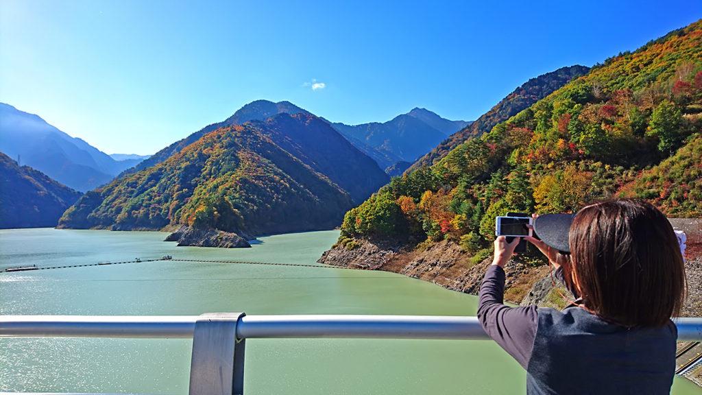 大町ダムから龍神湖