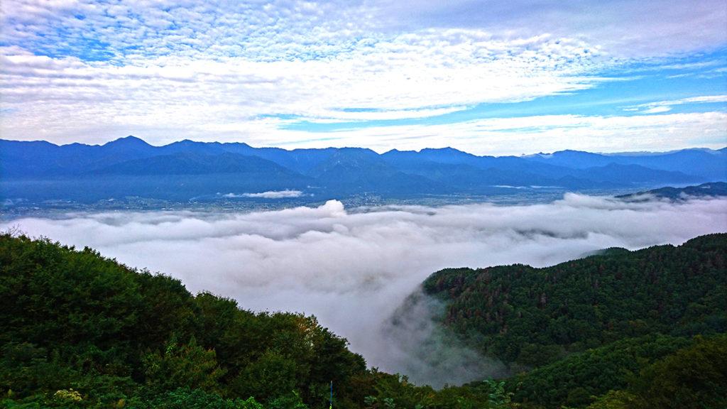 長峰山頂からの雲海