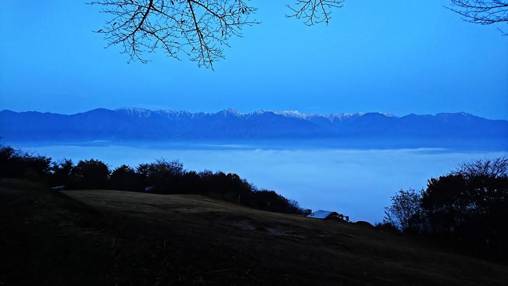 6時10分頃、長峰山から見る雲海