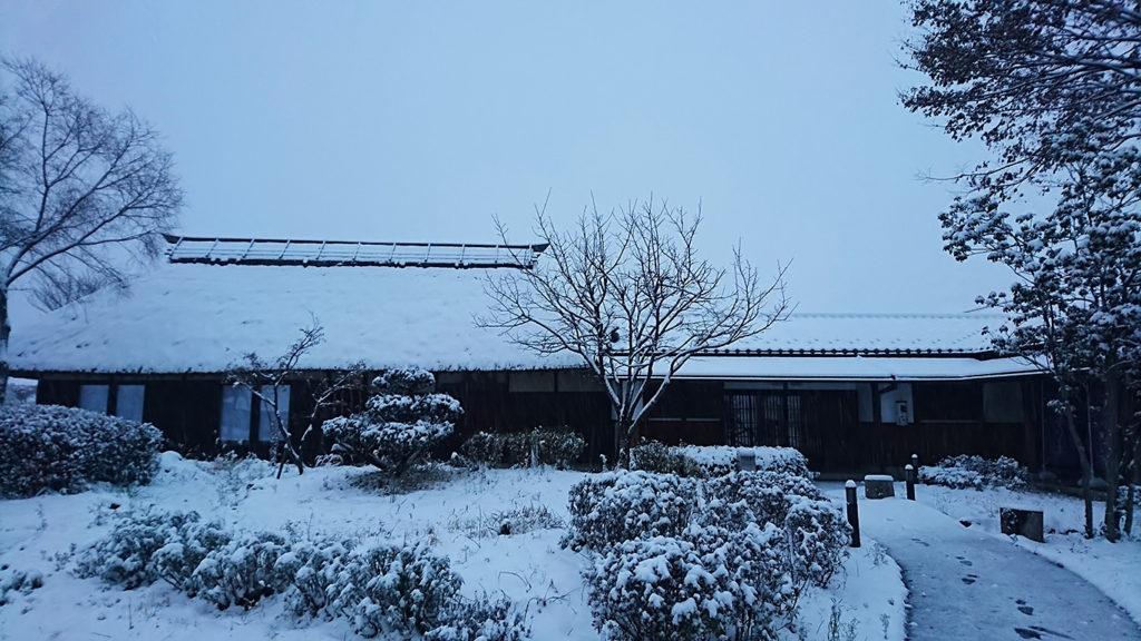 初雪をなごみ庵さんから