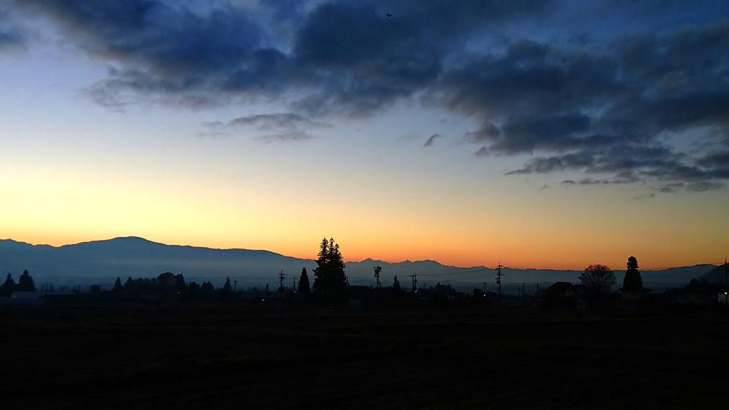 北海渡から見た朝焼け