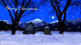 常念道祖神のクリスマスカード