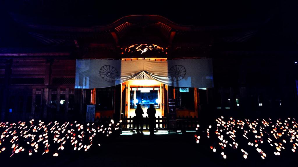 2016穂高神社神竹灯2