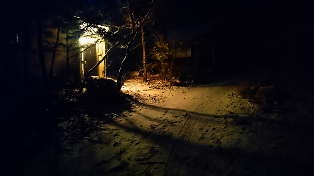 学者村内の雪景色
