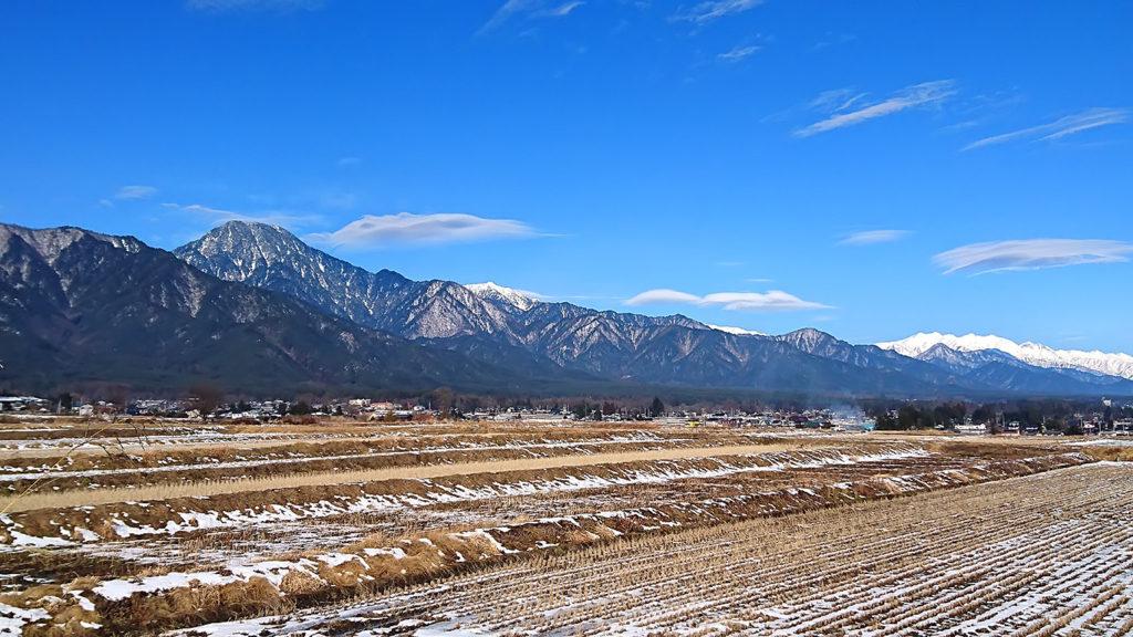 巾上の郷付近から見る山並み