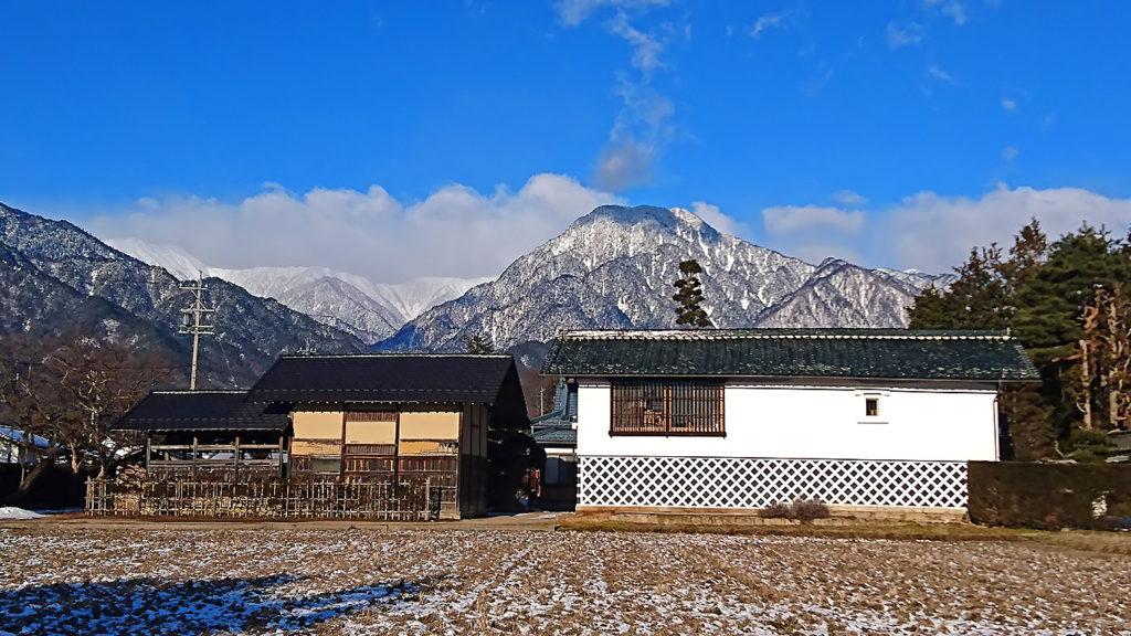 厳冬期の有明山