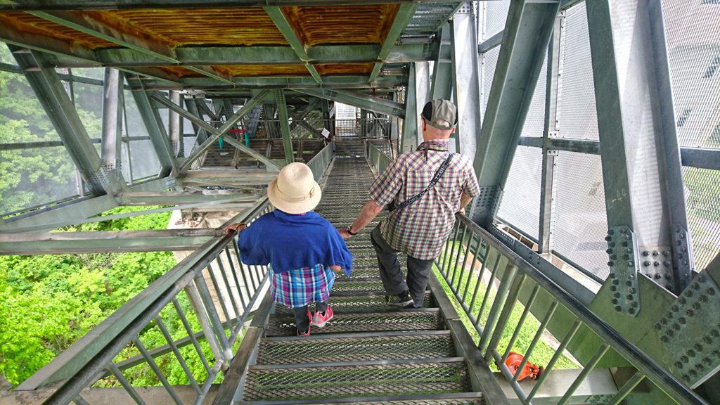 白馬スキージャンプ台の階段