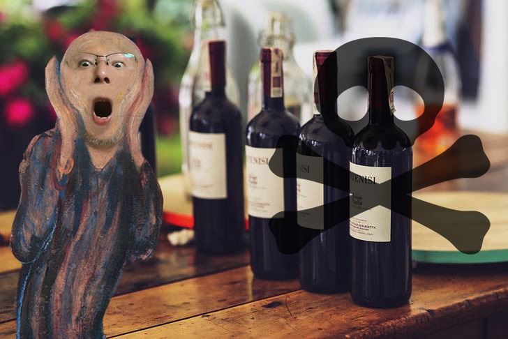 1000本の中に毒入りワインが1本
