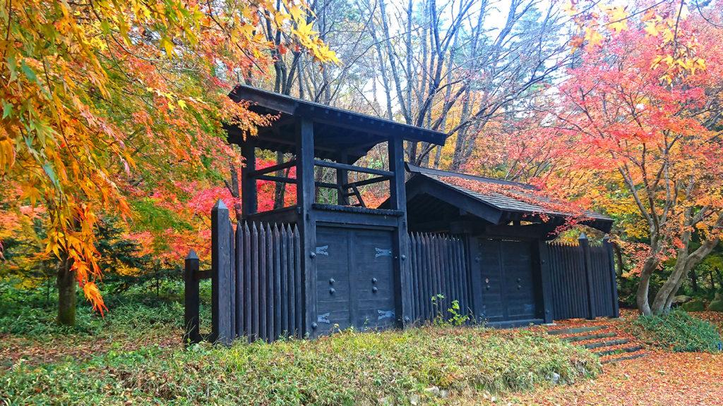 小岩嶽城址公園の紅葉