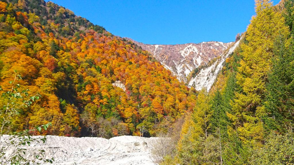 濁沢の滝近くの風景
