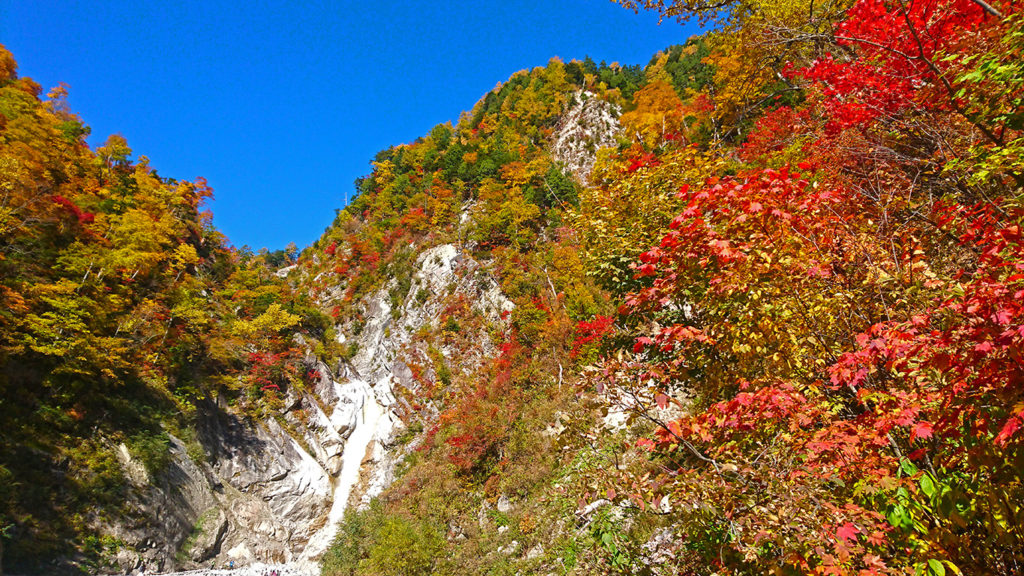 濁沢の滝の紅葉