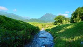 油川と有明山